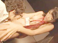 ネットカフェの女性店員のブルマ制服に興奮した男性客がお店の個室で女性店員に迫っちゃうイケナイエッチ Pornhub女性専用安心安全無料エロ動画