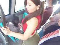 浅野あたる 満員の通勤バスの車内でサラリーマン男性を誘惑しちゃう変態痴女OLの痴漢エッチ erovideo女性のための無料H動画